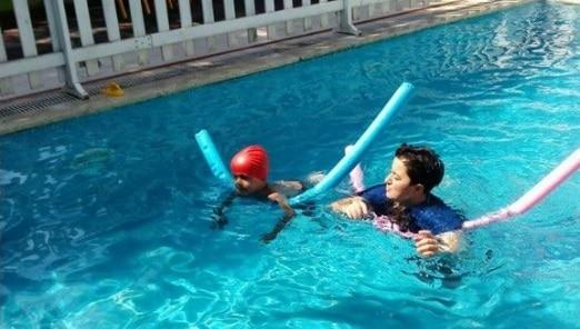 Düş Bahçesi Anaokulu yüzme dersi
