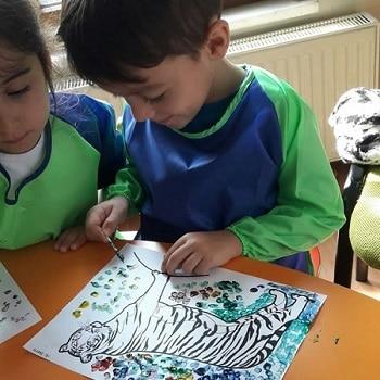 Düş Bahçesi Anaokulu Sumatra Kaplanı Boyama Etkinliği